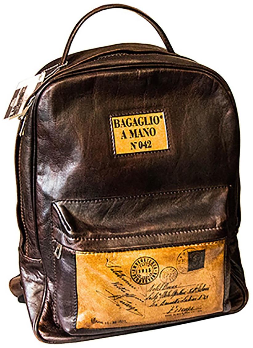 Valódi bőr hátizsák, egyedi darab, jelzett, számozott, olasz termék